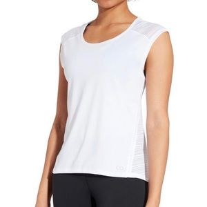 CALIA Move Mesh Back Cap Sleeve T-Shirt